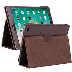 Handytasche Stand Schutzhülle Flip Leder Hülle L04 für Apple iPad 10.2 (2020) Braun