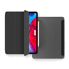 Handytasche Stand Schutzhülle Flip Leder Hülle L04 für Apple iPad Air 10.9 (2020) Schwarz