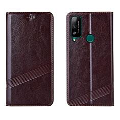 Handytasche Stand Schutzhülle Flip Leder Hülle L04 für Huawei Honor Play4T Braun
