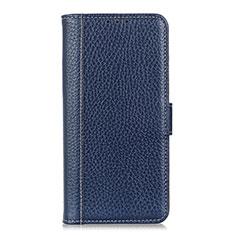 Handytasche Stand Schutzhülle Flip Leder Hülle L04 für Huawei Y6p Blau