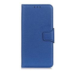 Handytasche Stand Schutzhülle Flip Leder Hülle L04 für LG Velvet 4G Blau