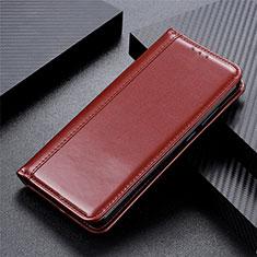 Handytasche Stand Schutzhülle Flip Leder Hülle L04 für Motorola Moto G8 Power Braun