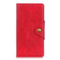 Handytasche Stand Schutzhülle Flip Leder Hülle L04 für Motorola Moto G9 Play Rot