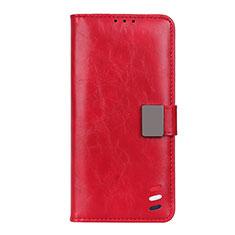 Handytasche Stand Schutzhülle Flip Leder Hülle L04 für Motorola Moto G9 Plus Rot