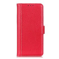 Handytasche Stand Schutzhülle Flip Leder Hülle L04 für Motorola Moto One Fusion Rot