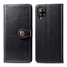 Handytasche Stand Schutzhülle Flip Leder Hülle L04 für Samsung Galaxy A42 5G Schwarz