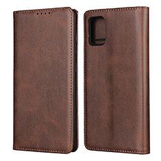 Handytasche Stand Schutzhülle Flip Leder Hülle L04 für Samsung Galaxy A51 4G Braun