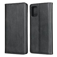 Handytasche Stand Schutzhülle Flip Leder Hülle L04 für Samsung Galaxy A51 4G Schwarz