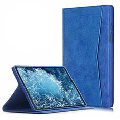 Handytasche Stand Schutzhülle Flip Leder Hülle L04 für Samsung Galaxy Tab A7 Wi-Fi 10.4 SM-T500 Blau