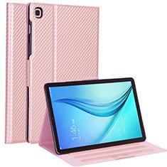 Handytasche Stand Schutzhülle Flip Leder Hülle L04 für Samsung Galaxy Tab S5e Wi-Fi 10.5 SM-T720 Rosegold