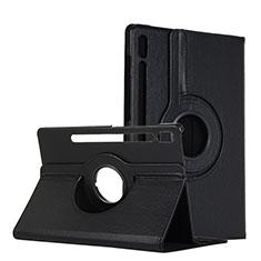 Handytasche Stand Schutzhülle Flip Leder Hülle L04 für Samsung Galaxy Tab S6 10.5 SM-T860 Schwarz