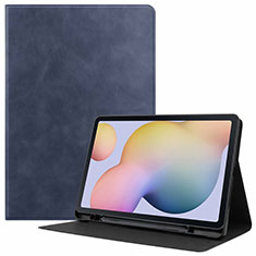 Handytasche Stand Schutzhülle Flip Leder Hülle L04 für Samsung Galaxy Tab S7 11 Wi-Fi SM-T870 Blau