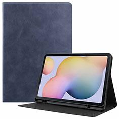 Handytasche Stand Schutzhülle Flip Leder Hülle L04 für Samsung Galaxy Tab S7 4G 11 SM-T875 Blau