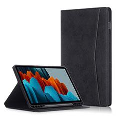 Handytasche Stand Schutzhülle Flip Leder Hülle L04 für Samsung Galaxy Tab S7 Plus 5G 12.4 SM-T976 Schwarz