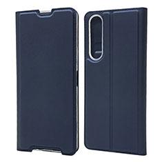 Handytasche Stand Schutzhülle Flip Leder Hülle L04 für Sony Xperia 1 II Blau