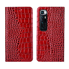 Handytasche Stand Schutzhülle Flip Leder Hülle L04 für Xiaomi Mi 10 Ultra Rot