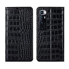 Handytasche Stand Schutzhülle Flip Leder Hülle L04 für Xiaomi Mi 10 Ultra Schwarz