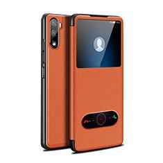 Handytasche Stand Schutzhülle Flip Leder Hülle L05 für Huawei Mate 40 Lite 5G Orange