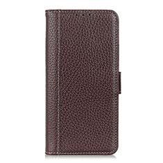 Handytasche Stand Schutzhülle Flip Leder Hülle L05 für LG Velvet 4G Braun