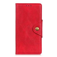 Handytasche Stand Schutzhülle Flip Leder Hülle L05 für Motorola Moto G8 Power Lite Rot