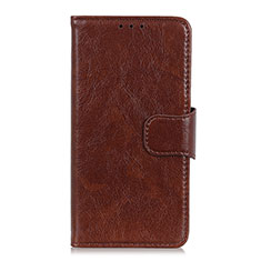 Handytasche Stand Schutzhülle Flip Leder Hülle L05 für Motorola Moto G9 Play Braun