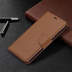 Handytasche Stand Schutzhülle Flip Leder Hülle L05 für Nokia 5.3 Braun