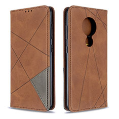 Handytasche Stand Schutzhülle Flip Leder Hülle L05 für Nokia 7.2 Braun