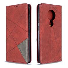 Handytasche Stand Schutzhülle Flip Leder Hülle L05 für Nokia 7.2 Rot