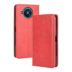 Handytasche Stand Schutzhülle Flip Leder Hülle L05 für Nokia 8.3 5G Rot