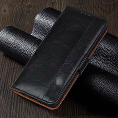 Handytasche Stand Schutzhülle Flip Leder Hülle L05 für Oppo Reno4 Z 5G Schwarz