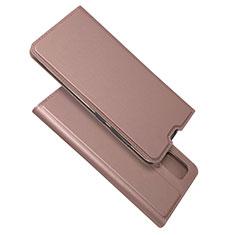 Handytasche Stand Schutzhülle Flip Leder Hülle L05 für Samsung Galaxy A51 4G Rosegold