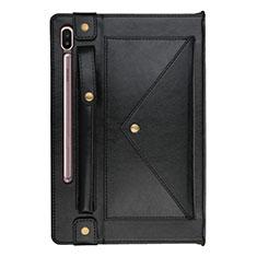Handytasche Stand Schutzhülle Flip Leder Hülle L05 für Samsung Galaxy Tab S6 10.5 SM-T860 Schwarz