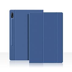 Handytasche Stand Schutzhülle Flip Leder Hülle L05 für Samsung Galaxy Tab S7 4G 11 SM-T875 Blau