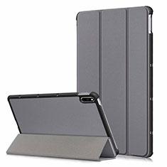 Handytasche Stand Schutzhülle Flip Leder Hülle L06 für Huawei MatePad 10.4 Grau