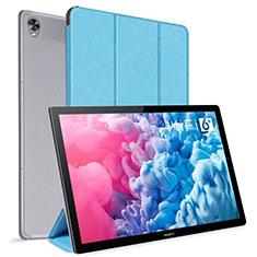 Handytasche Stand Schutzhülle Flip Leder Hülle L06 für Huawei MatePad 10.8 Hellblau