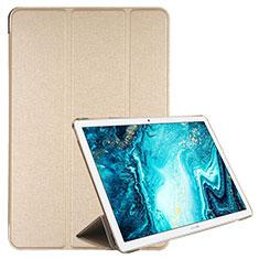 Handytasche Stand Schutzhülle Flip Leder Hülle L06 für Huawei MediaPad M6 10.8 Gold