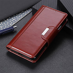 Handytasche Stand Schutzhülle Flip Leder Hülle L06 für Huawei P40 Lite E Braun