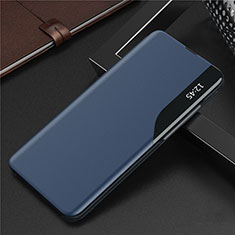 Handytasche Stand Schutzhülle Flip Leder Hülle L06 für Huawei Y7a Blau