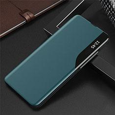 Handytasche Stand Schutzhülle Flip Leder Hülle L06 für Huawei Y7a Cyan