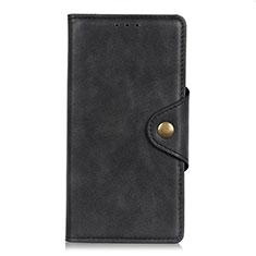 Handytasche Stand Schutzhülle Flip Leder Hülle L06 für LG K52 Schwarz