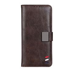 Handytasche Stand Schutzhülle Flip Leder Hülle L06 für Motorola Moto G 5G Braun