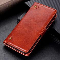 Handytasche Stand Schutzhülle Flip Leder Hülle L06 für Motorola Moto G9 Plus Hellbraun