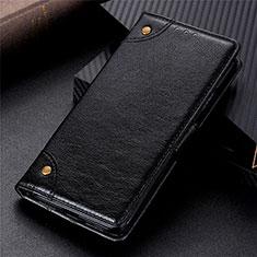 Handytasche Stand Schutzhülle Flip Leder Hülle L06 für Motorola Moto G9 Plus Schwarz