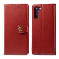 Handytasche Stand Schutzhülle Flip Leder Hülle L06 für Oppo Reno3 A Rot