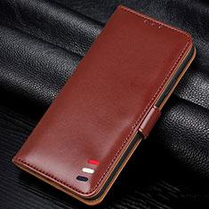 Handytasche Stand Schutzhülle Flip Leder Hülle L06 für Samsung Galaxy A41 Braun