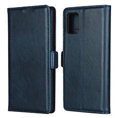 Handytasche Stand Schutzhülle Flip Leder Hülle L06 für Samsung Galaxy A51 4G Blau