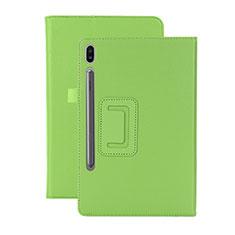 Handytasche Stand Schutzhülle Flip Leder Hülle L06 für Samsung Galaxy Tab S6 10.5 SM-T860 Grün