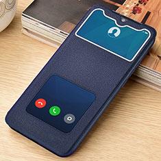 Handytasche Stand Schutzhülle Flip Leder Hülle L06 für Xiaomi Redmi Note 8 Pro Blau