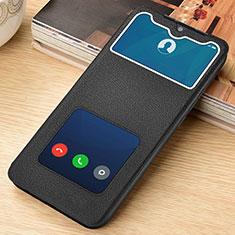 Handytasche Stand Schutzhülle Flip Leder Hülle L06 für Xiaomi Redmi Note 8 Pro Schwarz