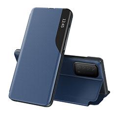Handytasche Stand Schutzhülle Flip Leder Hülle L07 für Huawei Y7a Blau